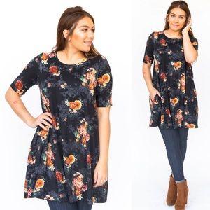 Agnes & Dora | Swing Tunic Shirt Dress Pockets
